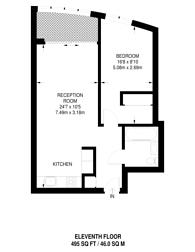 Large floorplan for Sky Gardens, Nine Elms, SW8