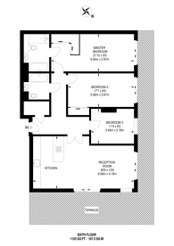 Large floorplan for Broomhill Road, Wandsworth, SW18