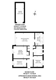 Large floorplan for Bramley Hill, South Croydon, CR2