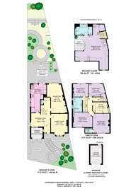 Large floorplan for Creighton Avenue, Muswell Hill, N10
