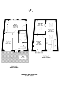 Large floorplan for Malvern Mews, Maida Hill, NW6