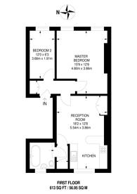 Large floorplan for St Marks Rise, Dalston, E8