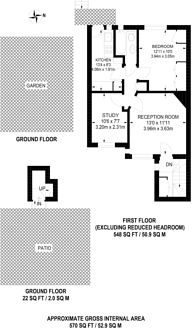 Large floorplan for Alexandra Road, Muswell Hill, N10