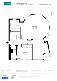 Large floorplan for Queens Court, Limehouse, E14