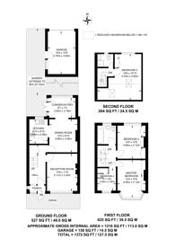 Large floorplan for Aylesford Avenue, Beckenham, BR3