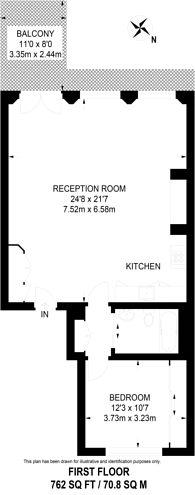 Large floorplan for Westbourne Terrace, Lancaster Gate, W2