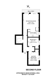 Large floorplan for Waterson Street, Hoxton, E2