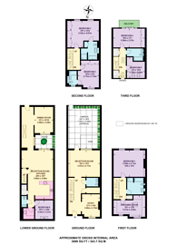 Large floorplan for Warriner Gardens, Prince of Wales Drive, SW11