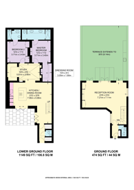 Large floorplan for Rutland Gate, Knightsbridge, SW7