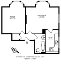 Large floorplan for Willow Place, Victoria, SW1P
