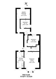 Large floorplan for Oakfield Road, West Croydon, CR0