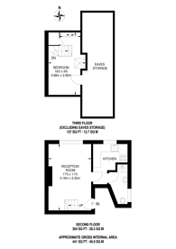 Large floorplan for Kings Avenue, Clapham, SW12