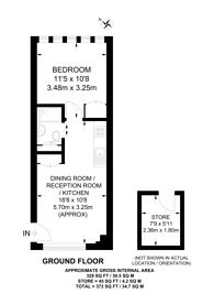 Large floorplan for Renfrew Road, Kennington, SE11