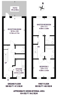 Large floorplan for Fisher Close, Rotherhithe, SE16