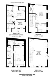 Large floorplan for Ennismore Street, Knightsbridge, SW7