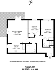 Large floorplan for Seven Kings Way, Kingston, KT2