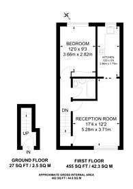 Large floorplan for Harms Grove, Merrow, GU4