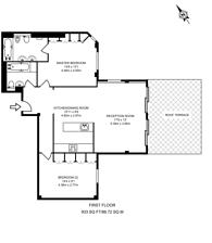 Large floorplan for Thackeray House, Sloane Square, SW3