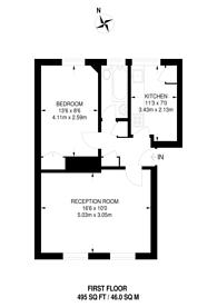Large floorplan for Herne Hill Road, Herne Hill, SE24