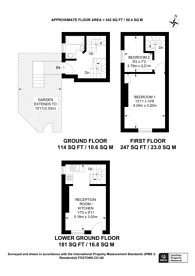 Large floorplan for The Mount Square, Hampstead, NW3