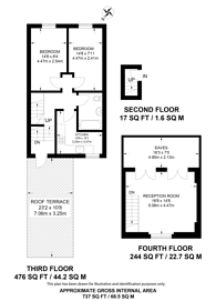 Large floorplan for Mansfield Road, Hampstead, NW3