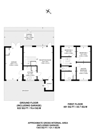 Large floorplan for Yew Tree Close, Worcester Park, KT4