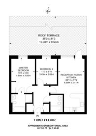 Large floorplan for Coombe Lane, Raynes Park, SW20
