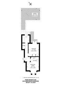 Large floorplan for Garratt Lane, Tooting Broadway, SW17