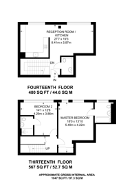 Large floorplan for Highgate Hill, Archway, N19