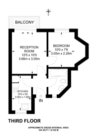 Large floorplan for Gunnersbury Lane, Acton, W3