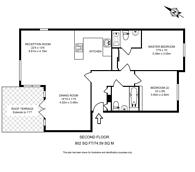 Large floorplan for Victoria Way, Woking, GU21