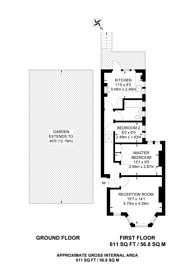 Large floorplan for Christchurch Avenue, Harrow, HA3
