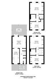 Large floorplan for Oakview Gardens, East Finchley, N2