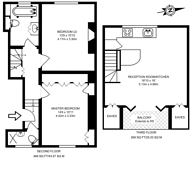 Large floorplan for Montpelier Grove, Kentish Town, NW5