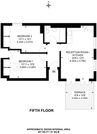 Large floorplan for Kilburn High Road, Kilburn, NW6