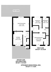 Large floorplan for Henry Addlington Close, Beckton, E6
