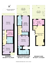 Large floorplan for Cadogan Street, Chelsea, SW3