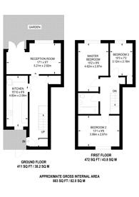 Large floorplan for Ullin Street, Poplar, E14
