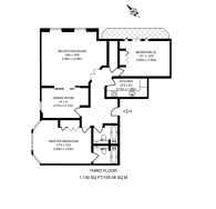 Large floorplan for Maida Vale, Little Venice, W9
