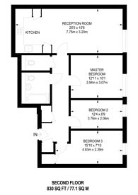 Large floorplan for Wellesley Terrace, Old Street, N1