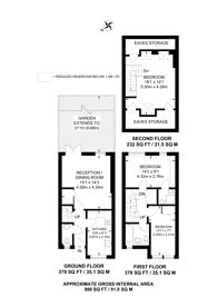 Large floorplan for Furness Road, Kensal Green, NW10