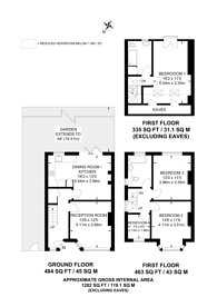 Large floorplan for Knollys Road, Streatham Hill, SW16