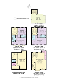 Large floorplan for Eaton Mews South, Belgravia, SW1W