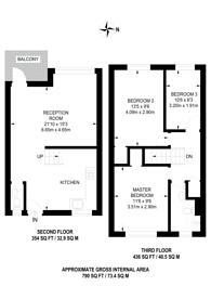 Large floorplan for Hemsworth Court, Hobbs Place Estate, Hoxton, N1