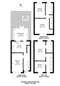 Large floorplan for Southholme Close, Upper Norwood, SE19