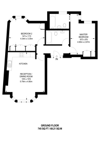 Large floorplan for .Hamlet Gardens, Ravenscourt Park, W6