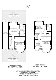 Large floorplan for Bounds Green Road, Bounds Green, N11