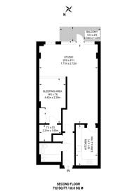 Large floorplan for Wenlock Road, Islington, N1