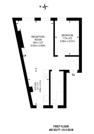 Large floorplan for Hereford Road, Westbourne Grove, W2
