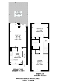 Large floorplan for Sumner Road, Camberwell, SE15